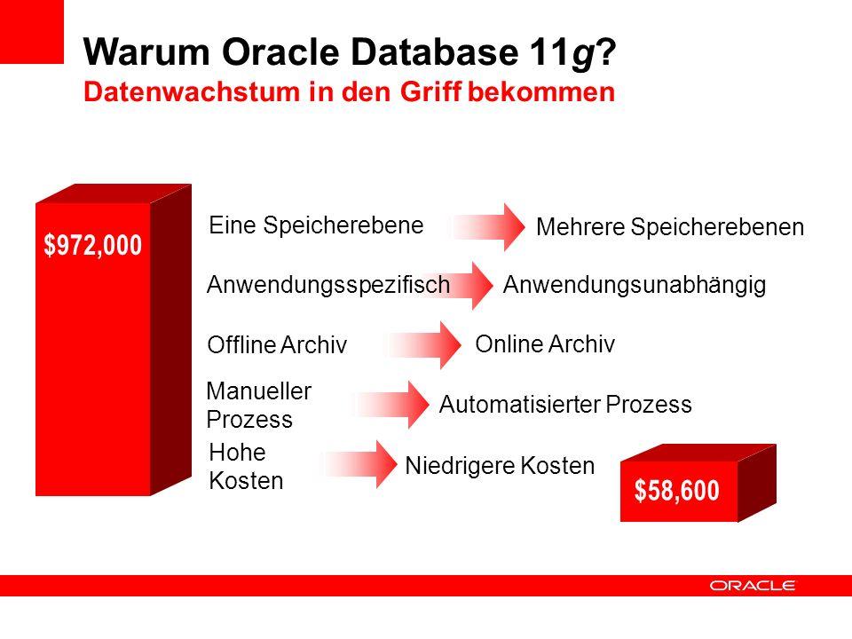 Warum Oracle Database 11g Datenwachstum in den Griff bekommen