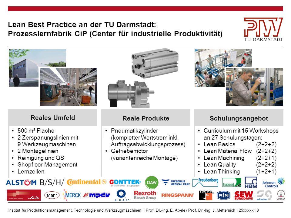 Lean Best Practice an der TU Darmstadt: Prozesslernfabrik CiP (Center für industrielle Produktivität)
