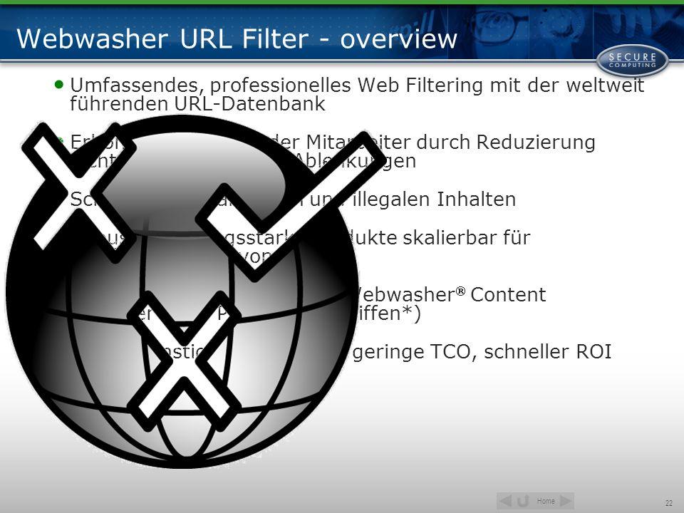 Webwasher URL Filter - overview