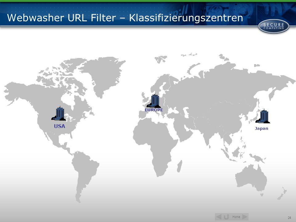 Webwasher URL Filter – Klassifizierungszentren