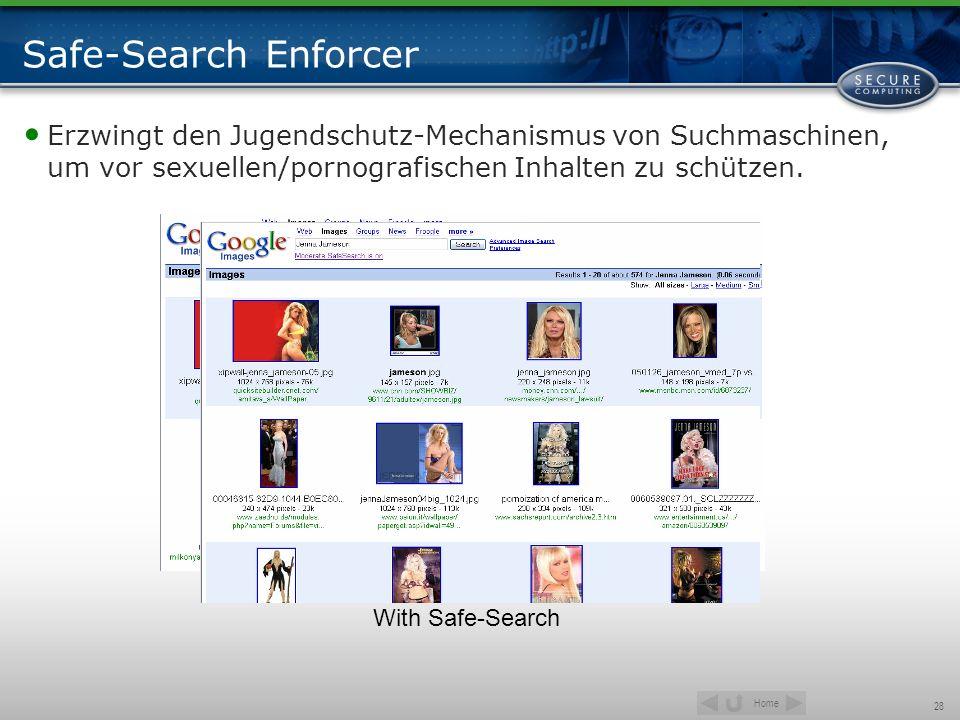Safe-Search Enforcer Erzwingt den Jugendschutz-Mechanismus von Suchmaschinen, um vor sexuellen/pornografischen Inhalten zu schützen.
