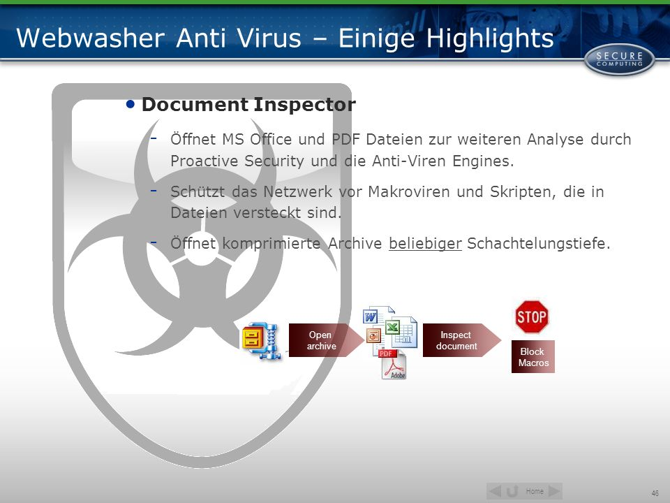 Webwasher Anti Virus – Einige Highlights