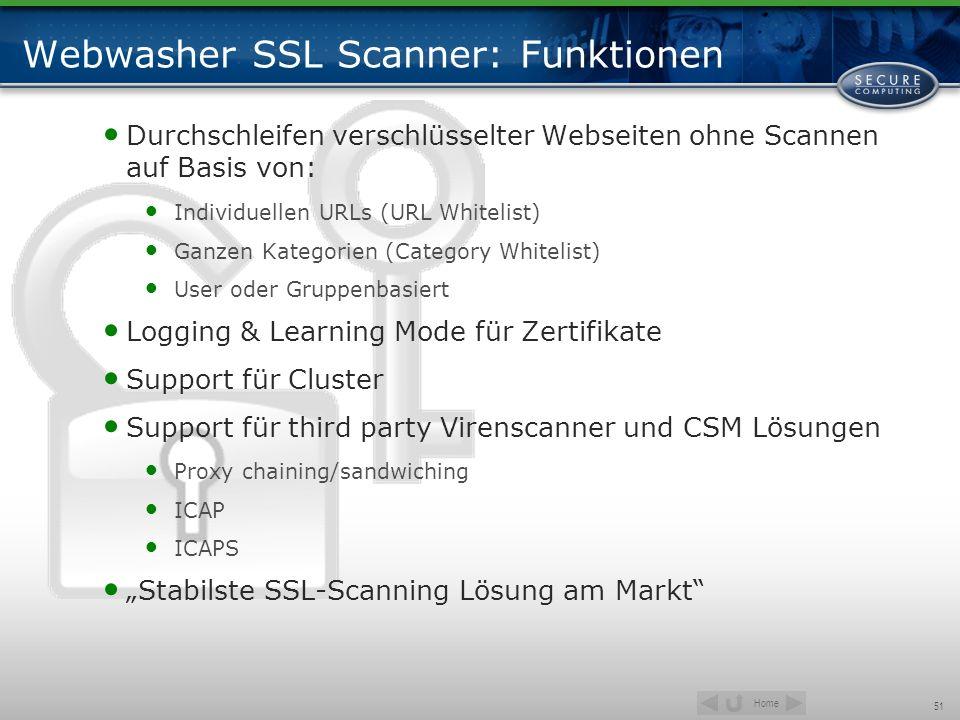 Webwasher SSL Scanner: Funktionen