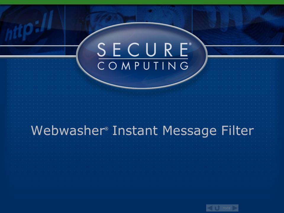 Webwasher® Instant Message Filter