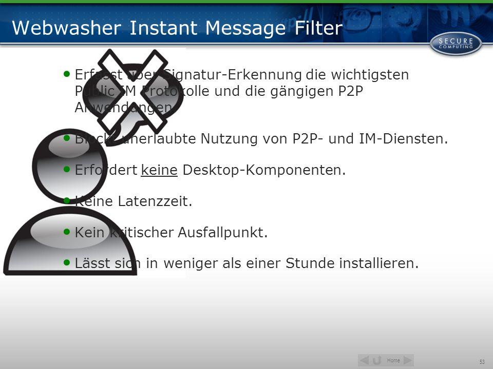 Webwasher Instant Message Filter