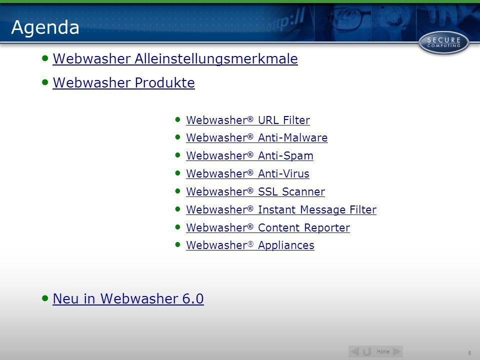 Agenda Webwasher Alleinstellungsmerkmale Webwasher Produkte