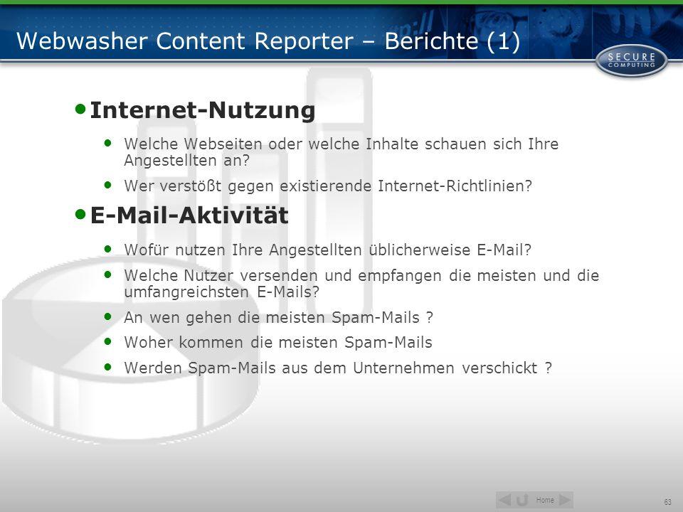 Webwasher Content Reporter – Berichte (1)