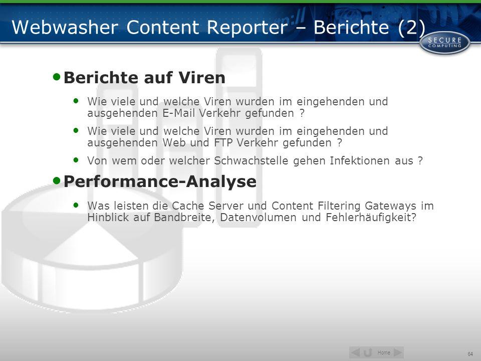 Webwasher Content Reporter – Berichte (2)
