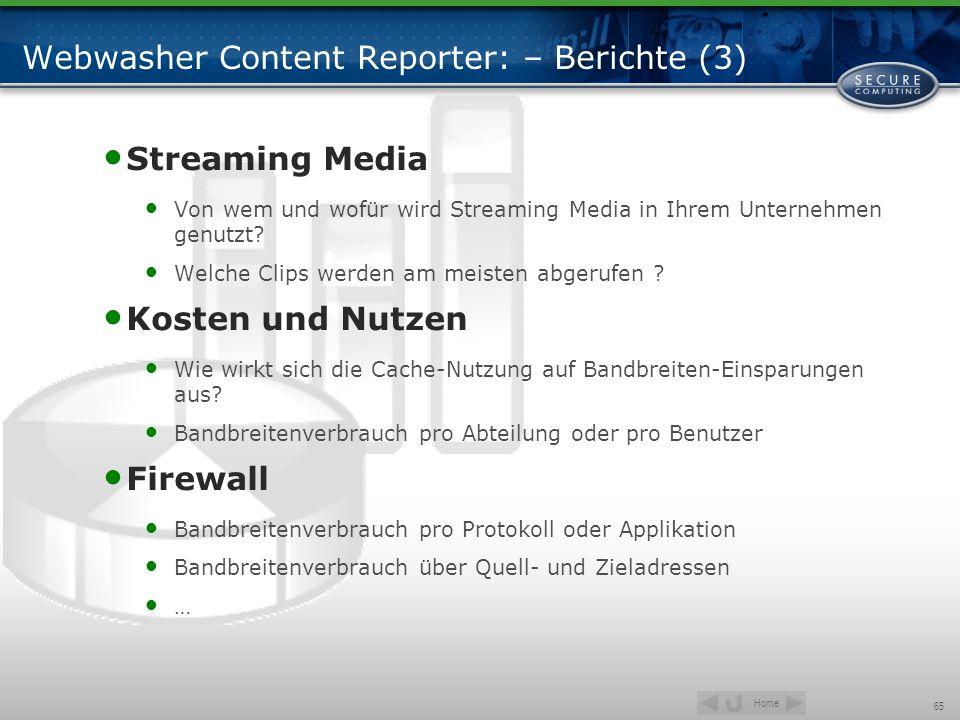 Webwasher Content Reporter: – Berichte (3)