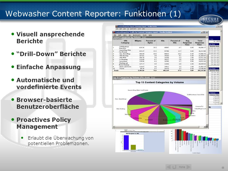 Webwasher Content Reporter: Funktionen (1)