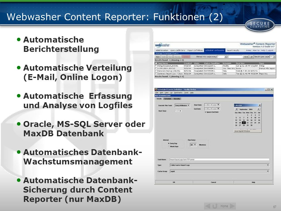 Webwasher Content Reporter: Funktionen (2)