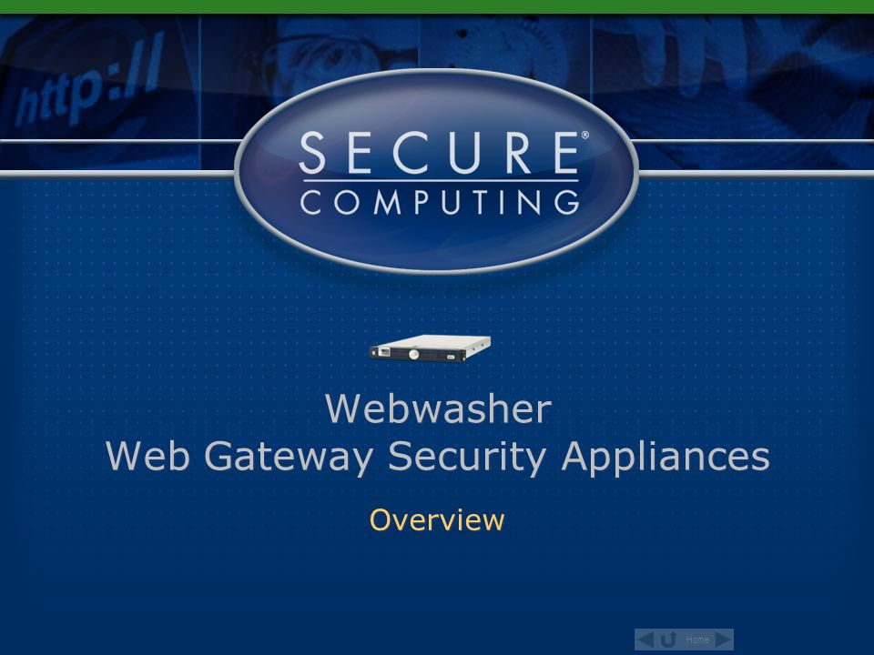 Webwasher Web Gateway Security Appliances