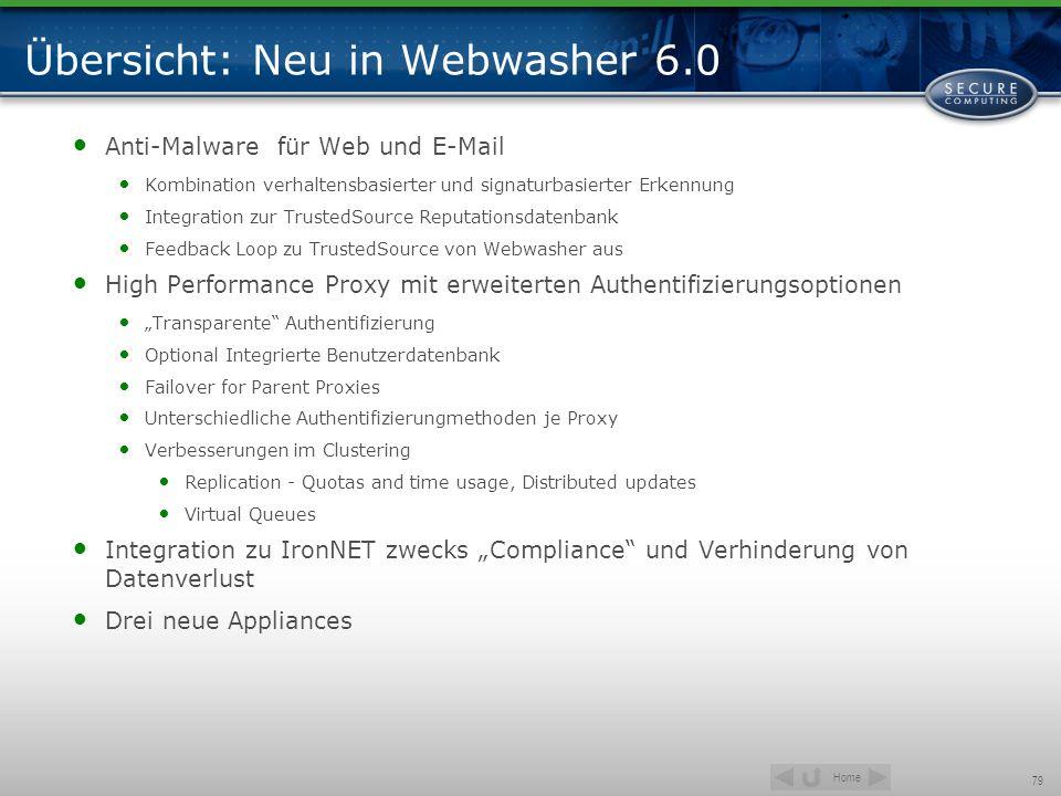 Übersicht: Neu in Webwasher 6.0