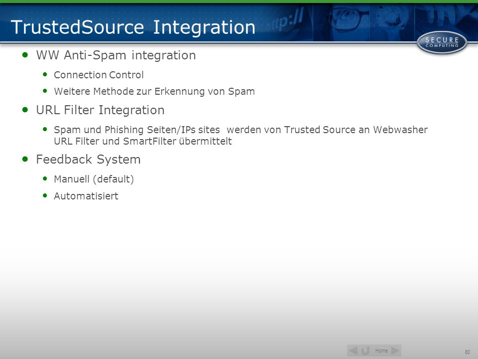 TrustedSource Integration