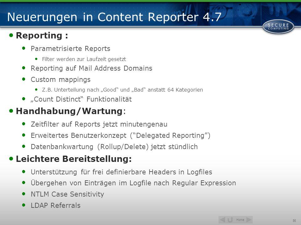 Neuerungen in Content Reporter 4.7