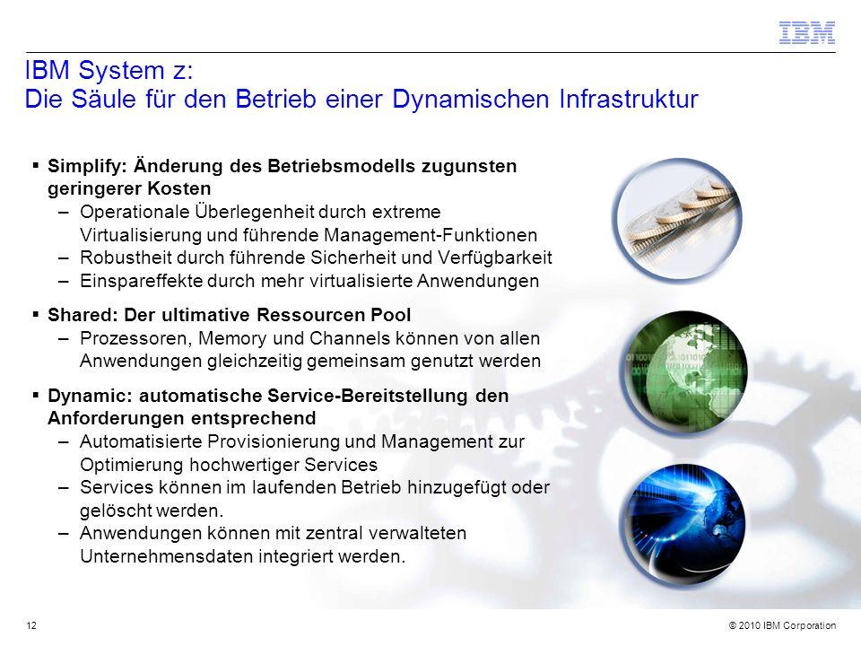 IBM System z: Die Säule für den Betrieb einer Dynamischen Infrastruktur