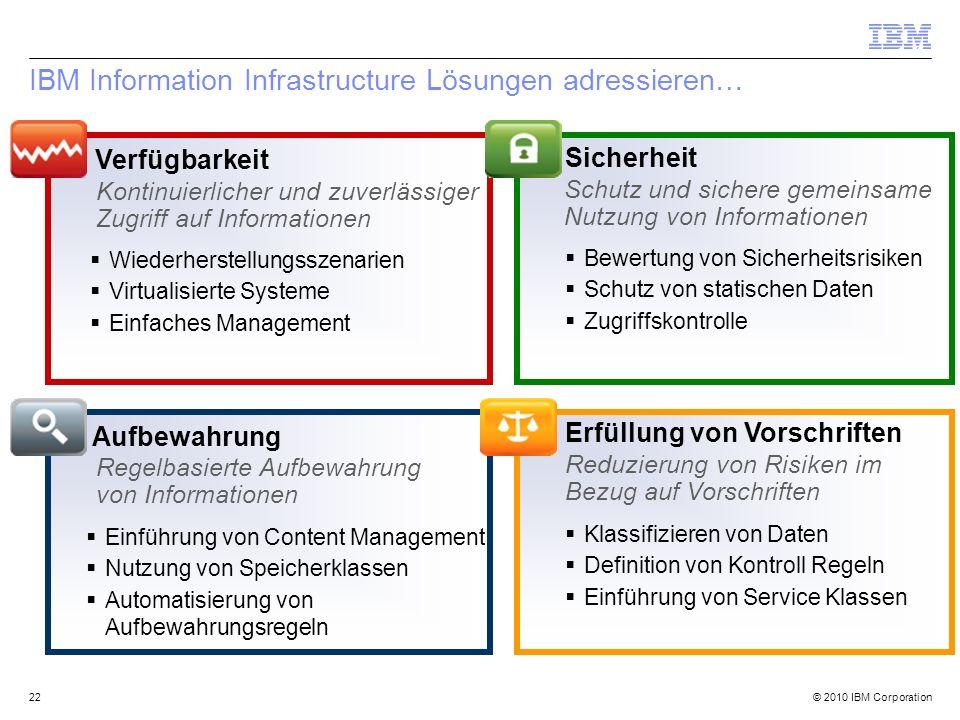IBM Information Infrastructure Lösungen adressieren…