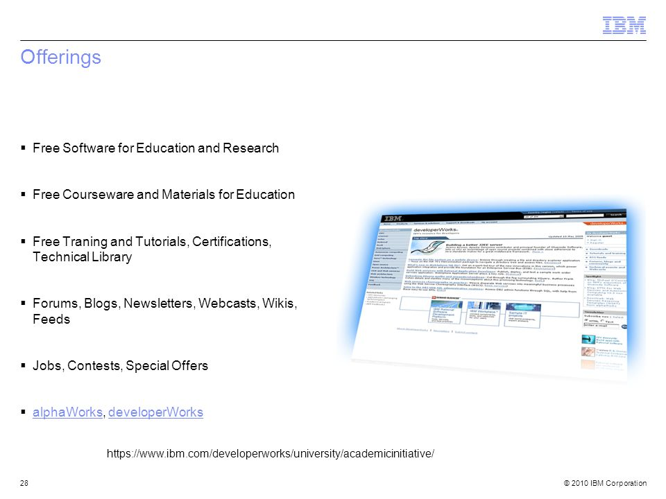 Offerings Free Software for Education and Research