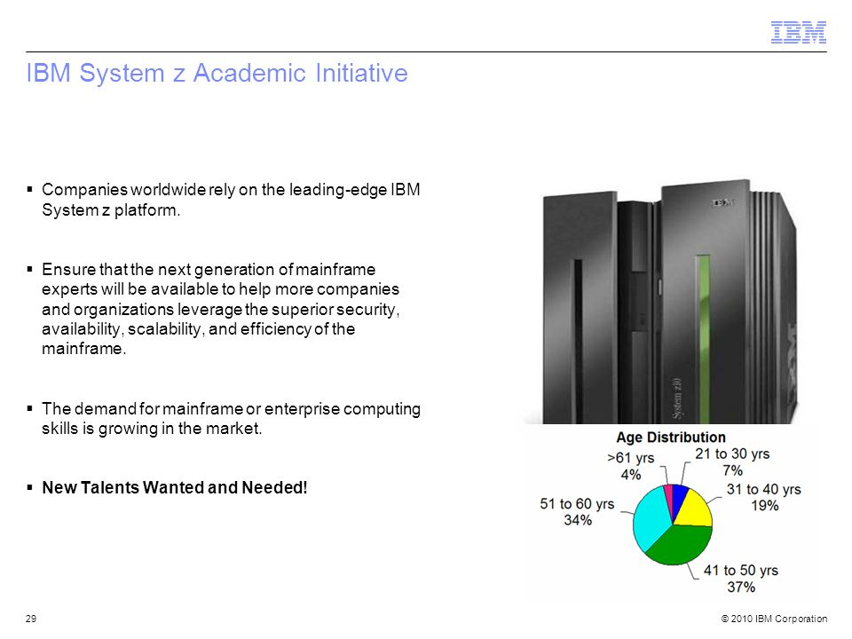 IBM System z Academic Initiative