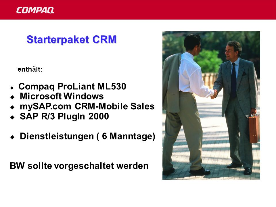 Starterpaket CRM Microsoft Windows mySAP.com CRM-Mobile Sales