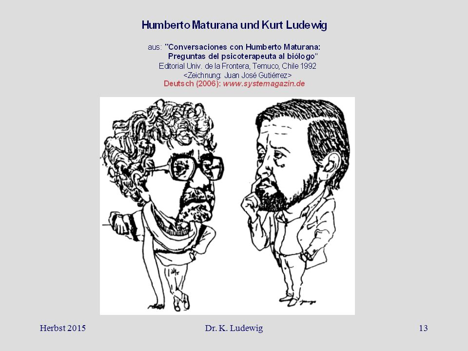 Herbst 2015 Dr. K. Ludewig
