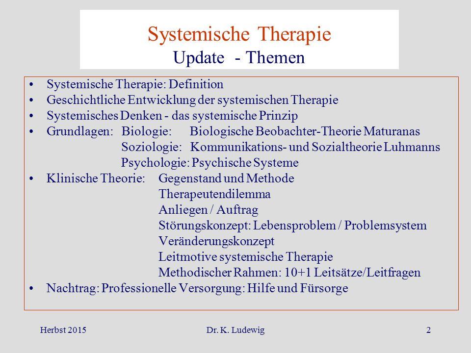 Systemische Therapie Update - Themen