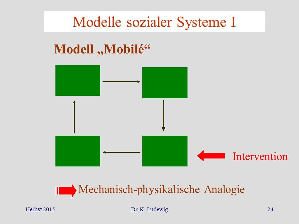 Modelle sozialer Systeme I