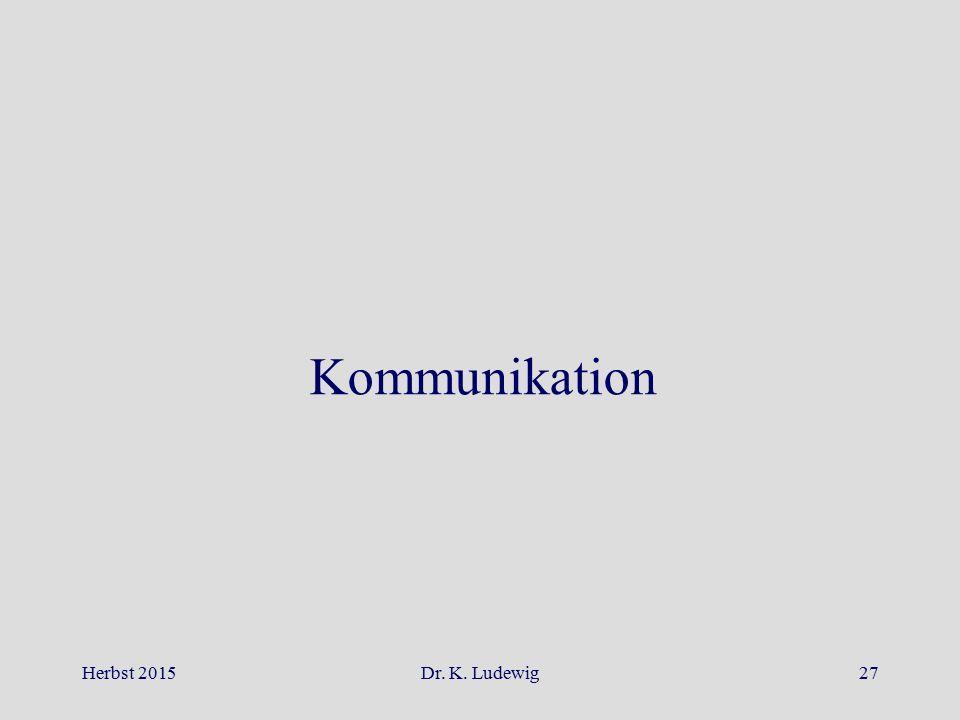 Kommunikation Herbst 2015 Dr. K. Ludewig