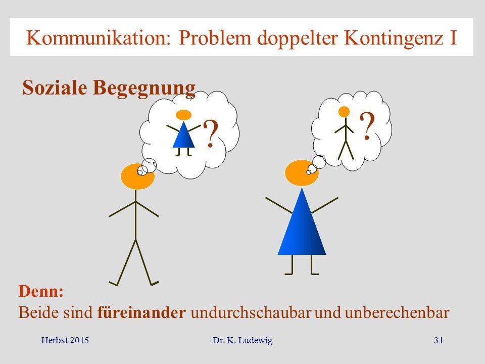 Kommunikation: Problem doppelter Kontingenz I
