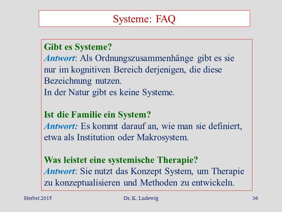 Systeme: FAQ Gibt es Systeme