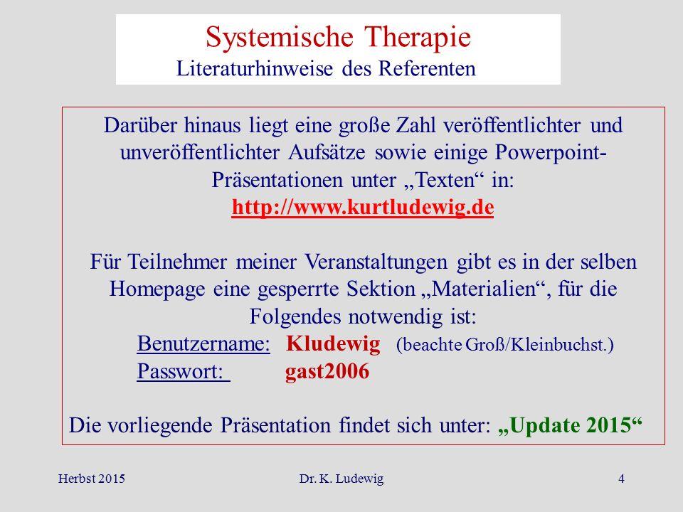 Systemische Therapie Literaturhinweise des Referenten II