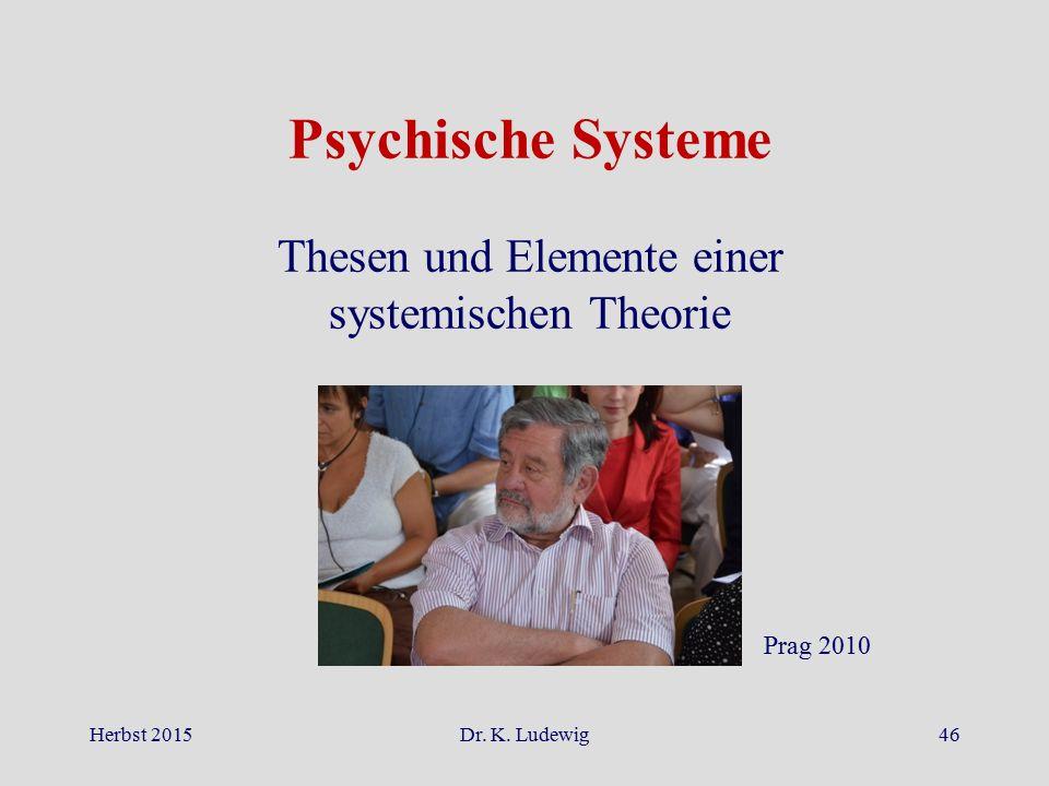 Thesen und Elemente einer systemischen Theorie