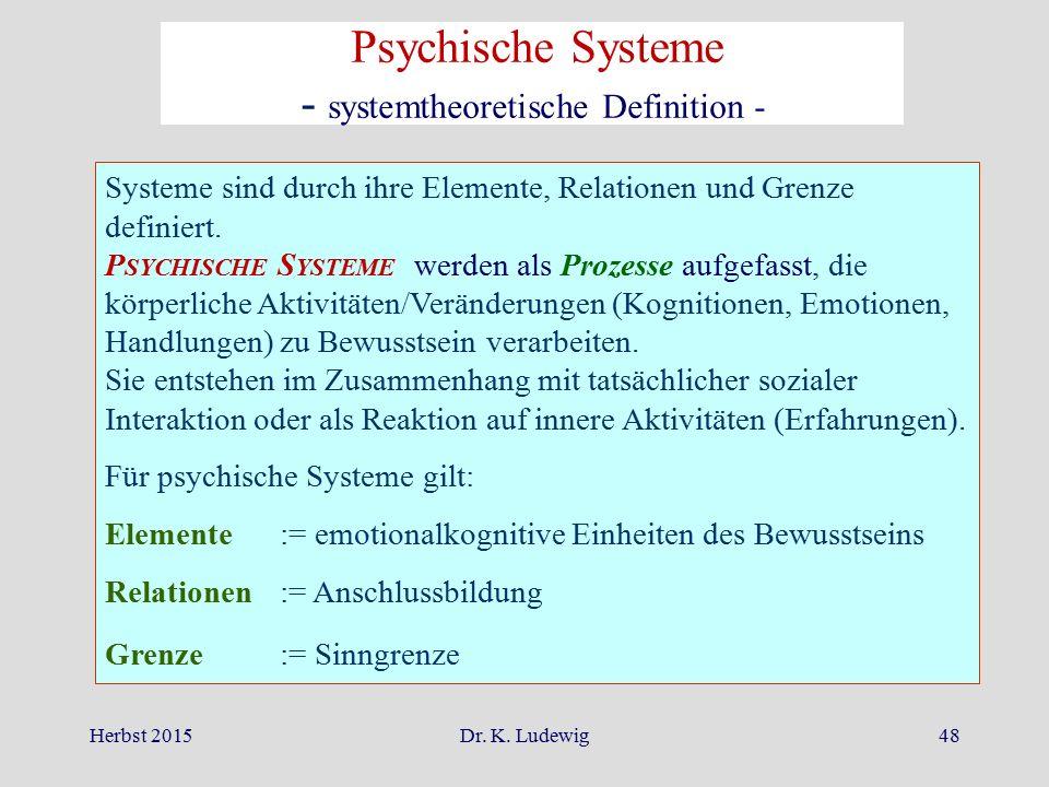 - systemtheoretische Definition -