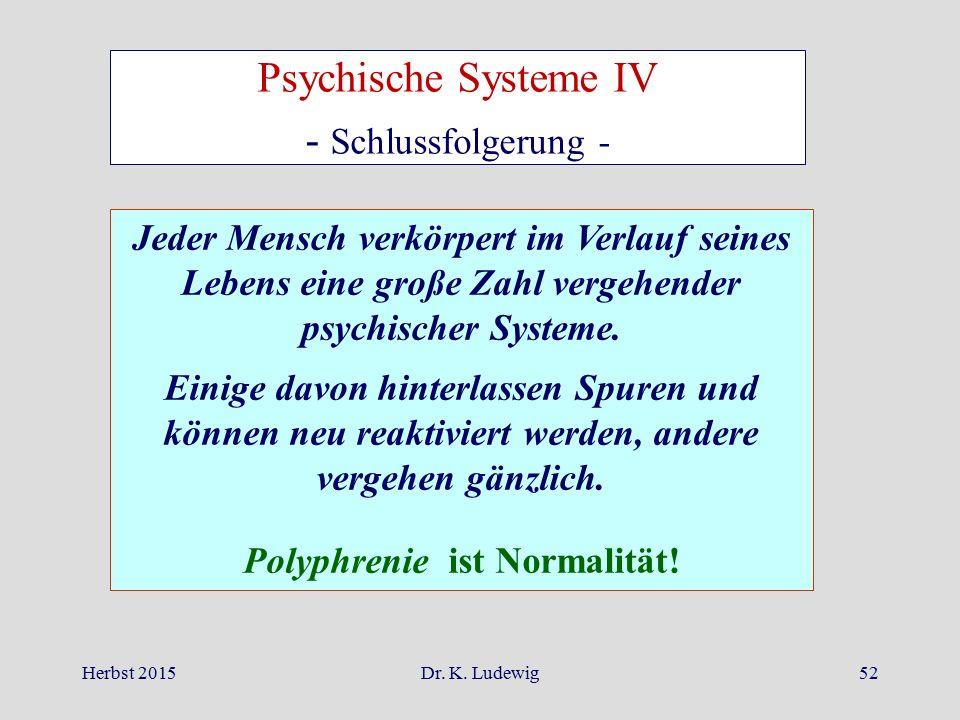 Polyphrenie ist Normalität!