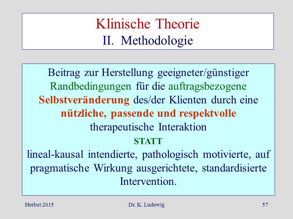 Klinische Theorie II. Methodologie