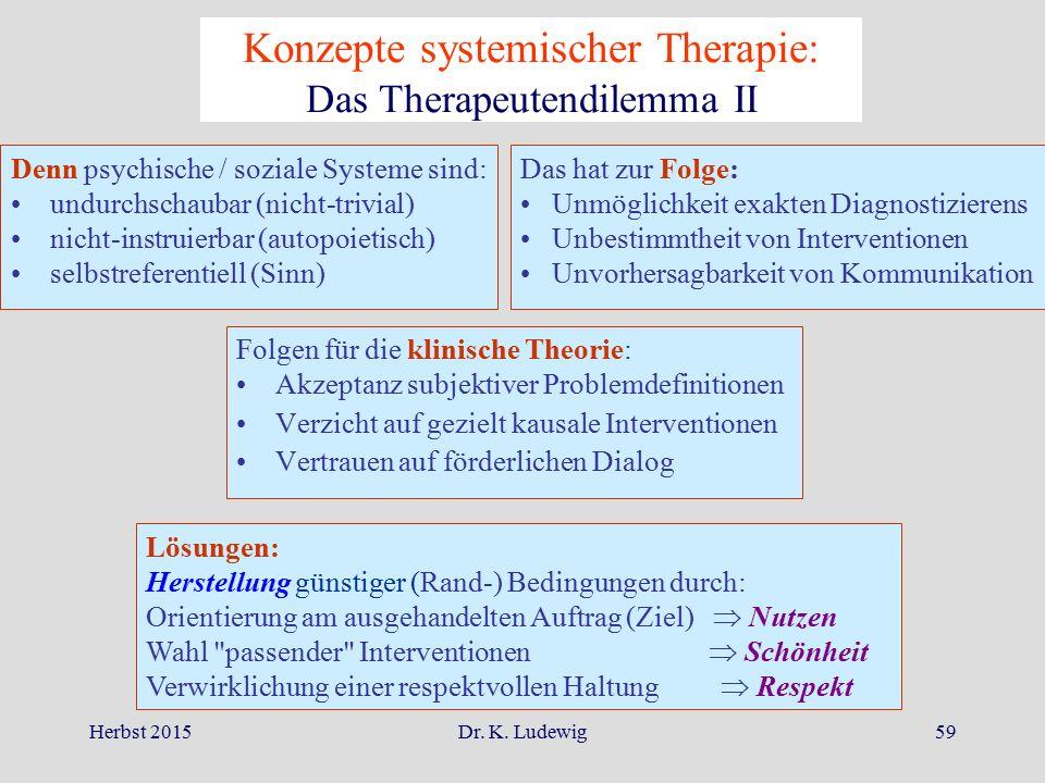 Konzepte systemischer Therapie: Das Therapeutendilemma II