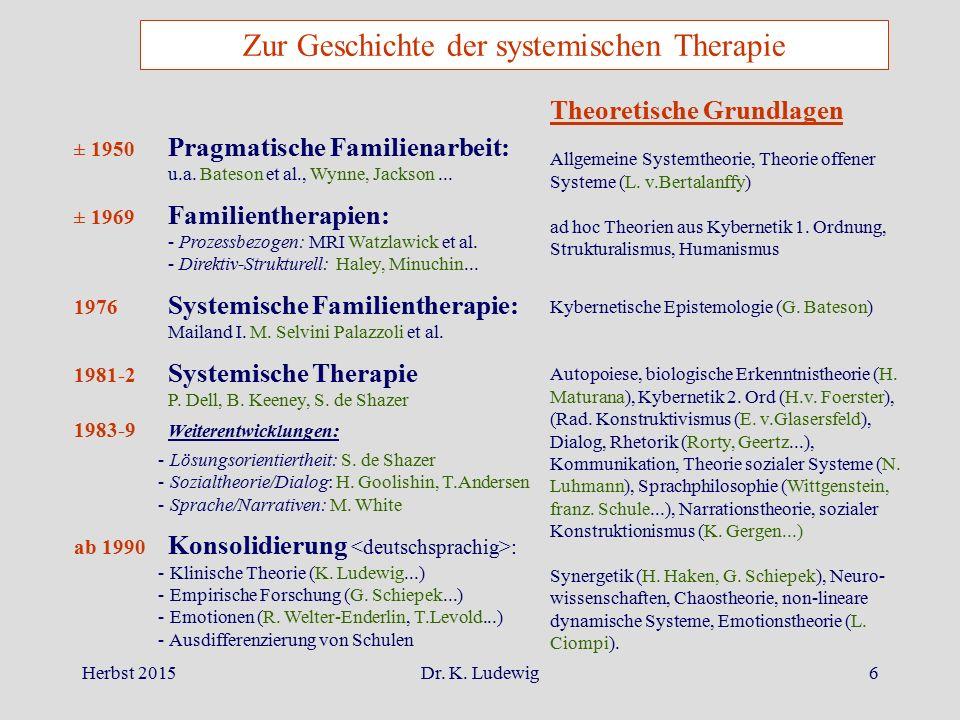 Zur Geschichte der systemischen Therapie