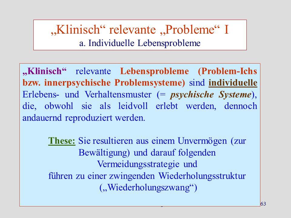 """""""Klinisch relevante """"Probleme I"""