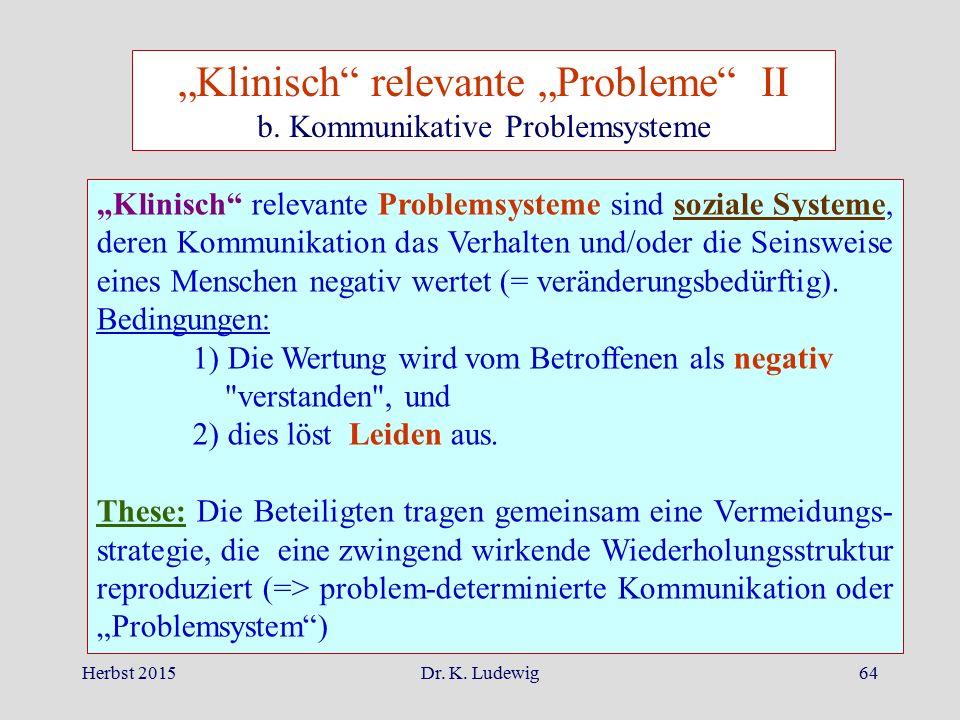 """""""Klinisch relevante """"Probleme II"""