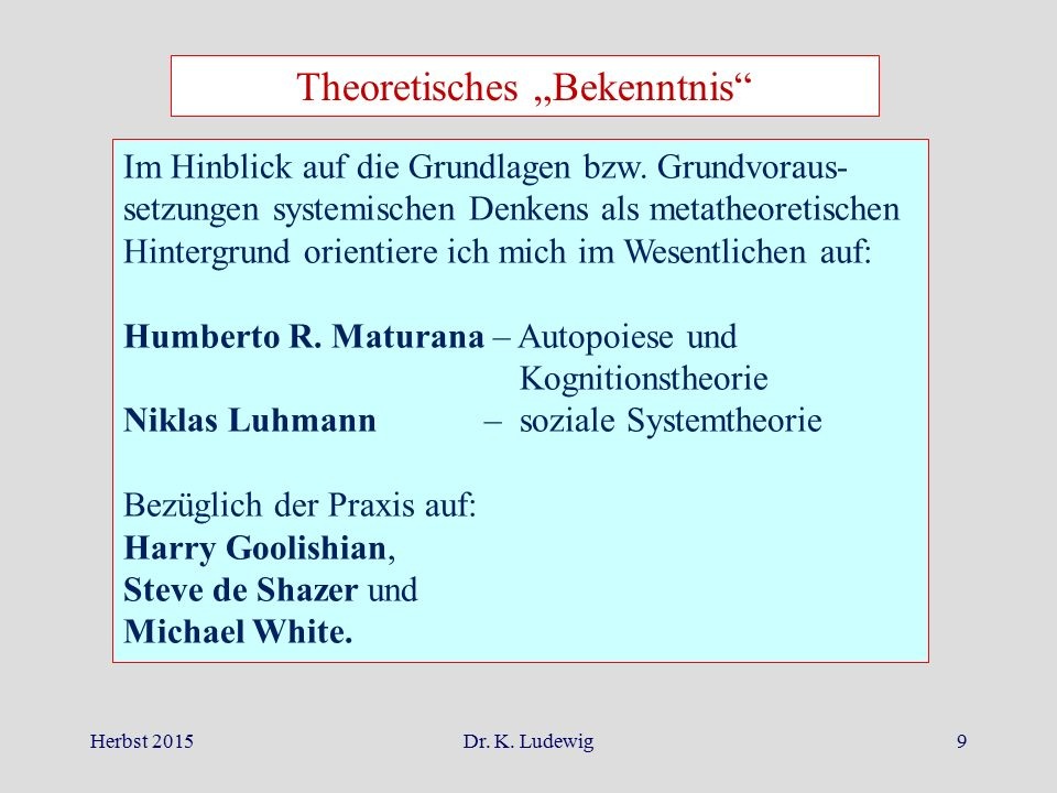 """Theoretisches """"Bekenntnis"""