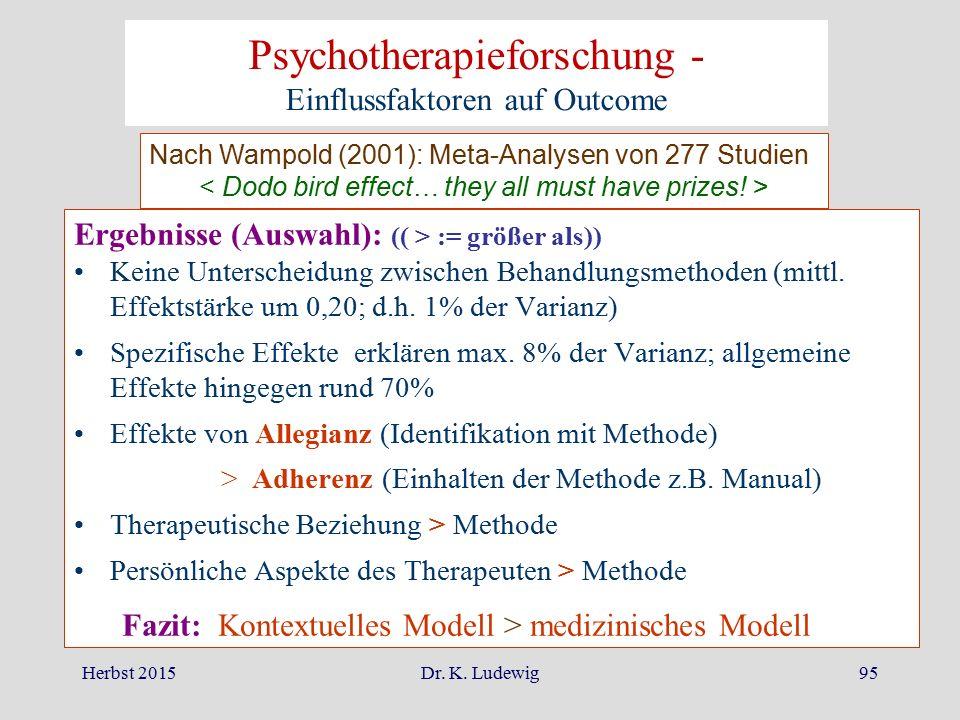 Psychotherapieforschung - Einflussfaktoren auf Outcome