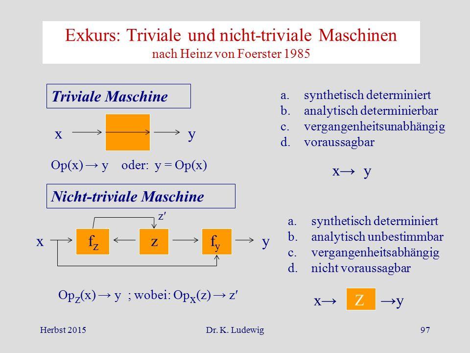 Exkurs: Triviale und nicht-triviale Maschinen