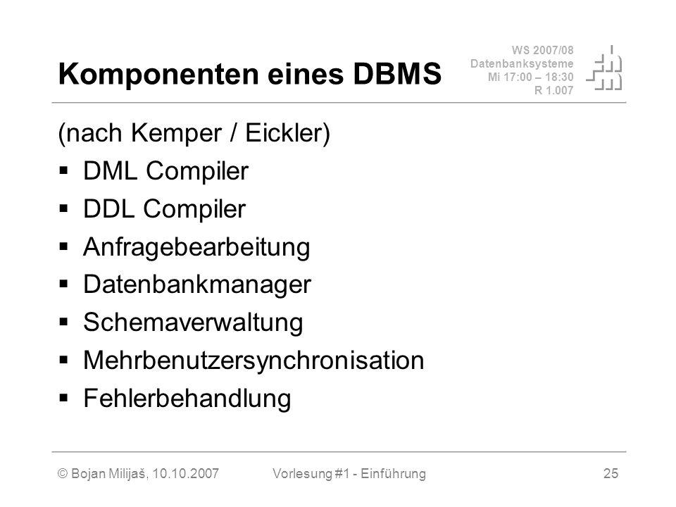 Komponenten eines DBMS