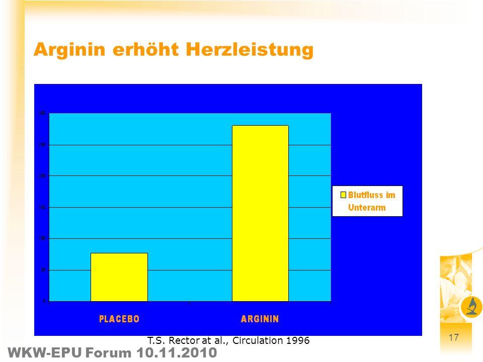 Arginin erhöht Herzleistung