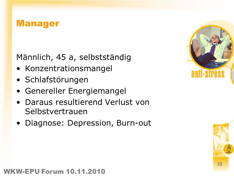 Manager Männlich, 45 a, selbstständig Konzentrationsmangel