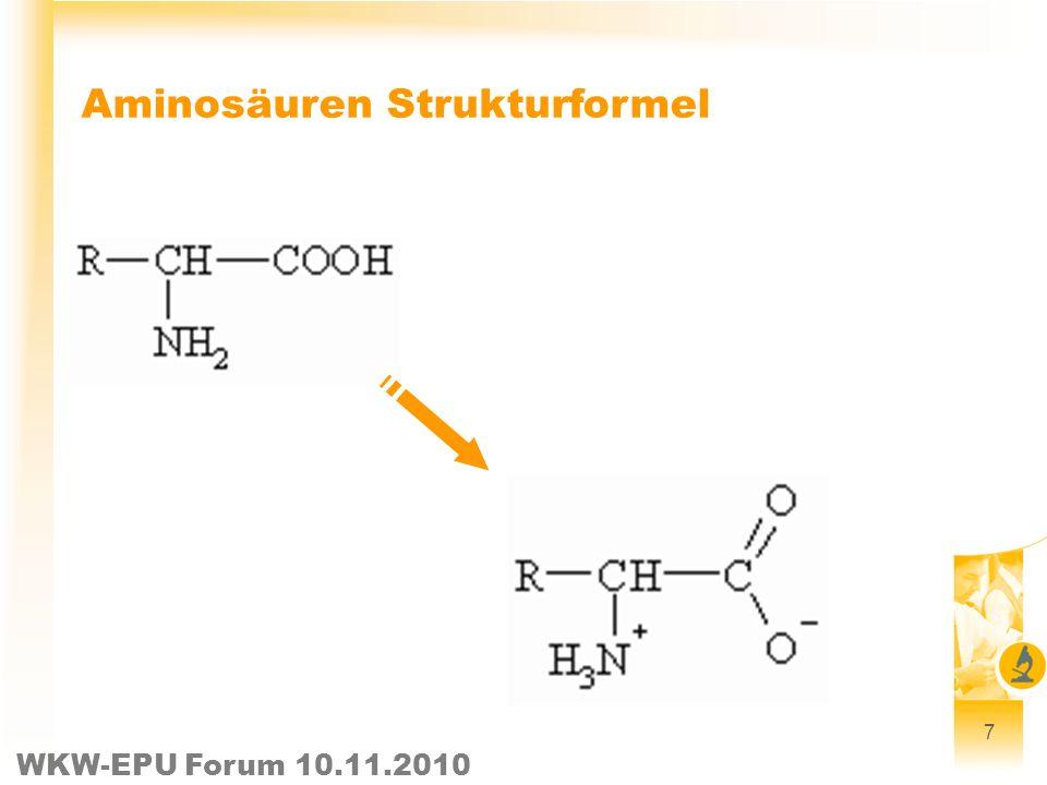 Aminosäuren Strukturformel