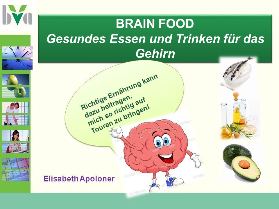 Gesundes Essen und Trinken für das Gehirn