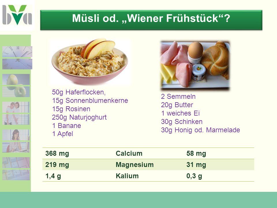 "Müsli od. ""Wiener Frühstück"