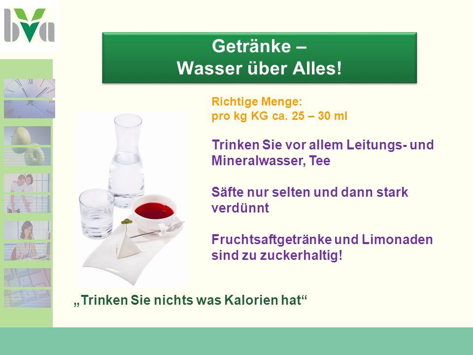 Getränke – Wasser über Alles!