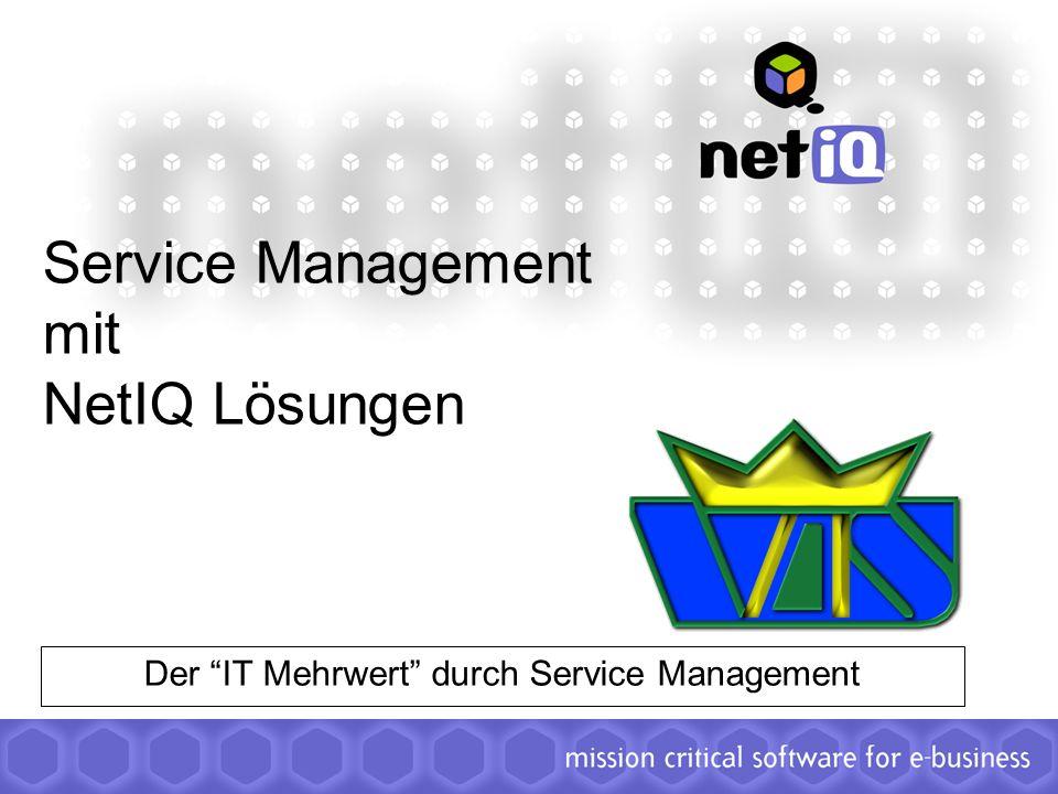 Service Management mit NetIQ Lösungen